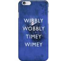 Doctor Who Timey Wimey iPhone Case/Skin