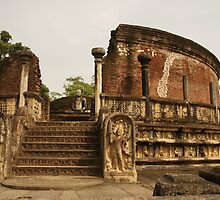 Vatadage, Polonnaruwa Quadrangle, Sri Lanka by Derek  Rogers