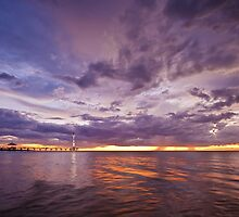 Stormy Sunset - Brighton Beach SA by AllshotsImaging