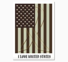 United States Flag Vintage T-shirt by Nhan Ngo
