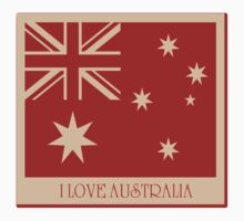 Australia Flag Vintage T-shirt Kids Clothes