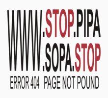 Stop SOPA & PIPA T-shirt by Nhan Ngo