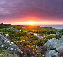 Across Strumble Head Peninsula from Carnwnda, near Llanwnda by Simon Bowen