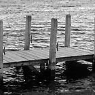 Ludington, Michigan Dock in Black & White by North22Gallery