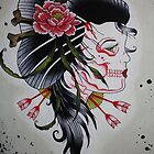 Skeletal Geisha by Laura Mancini