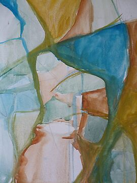 Raw Abstract - A Detail by Anthea  Slade