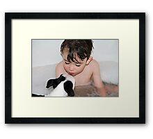 Puppy kisses... Framed Print