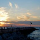 Ludington, Michigan Pier at Sunset by North22Gallery