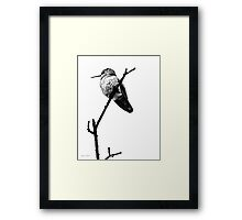 Another Little Bird (image & poetry) Framed Print