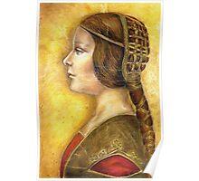 Homage to Da Vinci's Lost Princess Poster