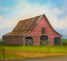 Red Barn on Bennett Rd in Forsyth Co., GA by Vivian Eagleson