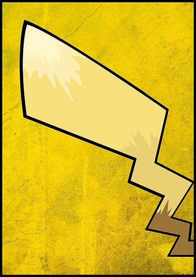 Pikachu's Tail - Pokemon Art Poster Minimal by Jorden Tually