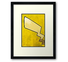 Pikachu's Tail - Pokemon Art Poster Minimal Framed Print