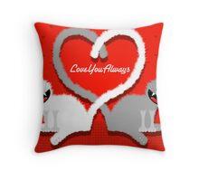 KITTENHEART Throw Pillow
