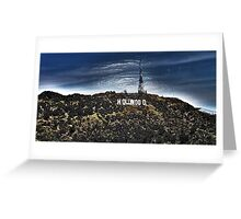 Hollywood Sign Wrapped  Greeting Card