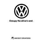 Occupy the driver's seat white by axesent