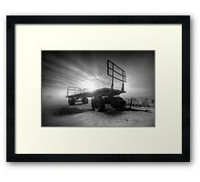 Cold & Empty Framed Print