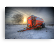 Orange Trailer Canvas Print