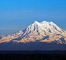 Late Afternoon Light On Mount Rainier by Jennifer Hulbert-Hortman