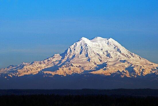 Late Afternoon Light On Mount Rainier by Jennifer Hulbert-Hortman