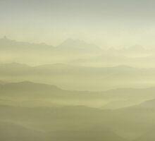 Sunrise in Himalayas - Nepal. by cococinema