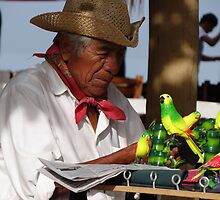 Seller Of Plastic Birds - Vendedor De Aves Plastico by Bernhard Matejka