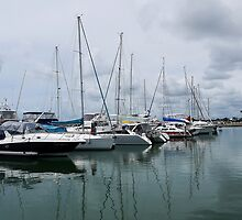Boats at Mooloolaba by SharonD