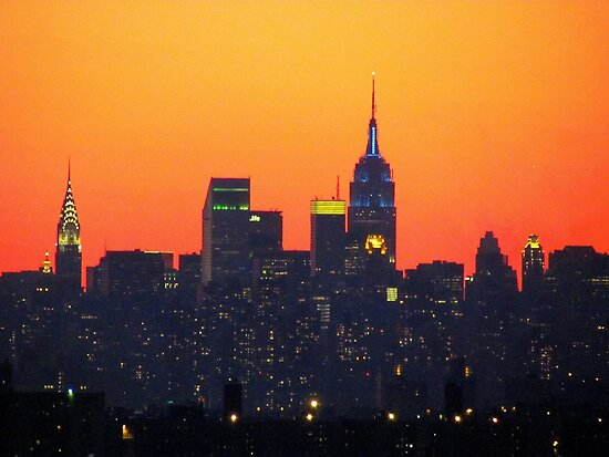 Superbowl City Sunset by Alberto  DeJesus