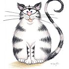 Kazart Fat Cat Card & Prints by Karen Sagovac