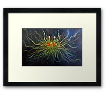 Flying Spaghetti Monster Painting- The Cosmic Pastalord Framed Print