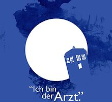 """Ich Bin Der Artz"" Doctor Who iPhone Case by derekland"