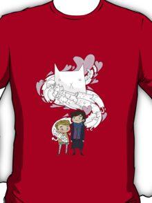 Sherlock and John: Cat jumper T-Shirt
