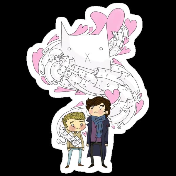 Sherlock and John: Cat jumper by ShrlckShvrnshke