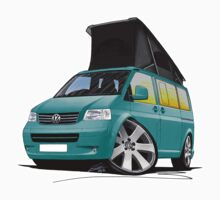 VW T5 California Camper Van Turquoise by Richard Yeomans