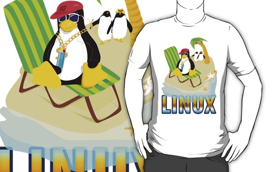Funny with TUX (linux) by xoguar