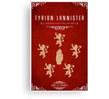 Tyrion Lannister Personal Sigil Canvas Print