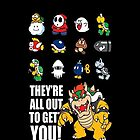 &quot;They&#x27;re All Out To Get You!&quot; Mario Characters Design by TalkThatTalk