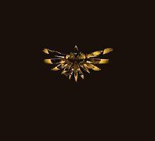 Zelda Triforce in Gold by TalkThatTalk