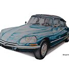 Citroen DS by BSIllustration