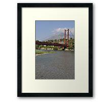 Puerto Banus bridge Framed Print