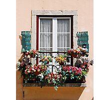 Lisbon´s window balcony Photographic Print