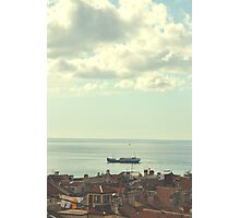 A small coastal town in Slovenia (Piran-Porano). Photographic Print