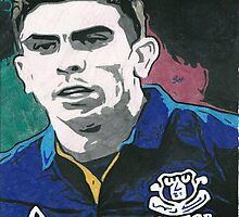Denis Stracqualursi Everton Comic Book Image by chrisjh2210