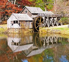 Grist Mill & Reflection by StonePics