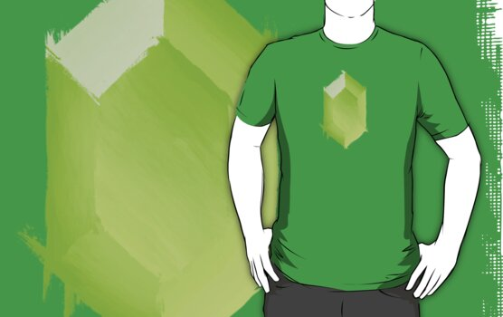 Green Rupee Paint by cluper