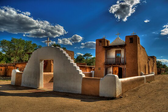 San Geronimo Church Taos Pueblo by Diana Graves Photography