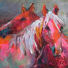 Contemporary Horses Svetlana Novikova Painting by Svetlana  Novikova