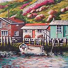 Fishing sheds, Newfoundland by Dan Wilcox