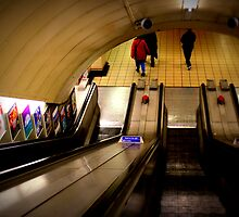 Gants Hill - The Escalators  by rsangsterkelly