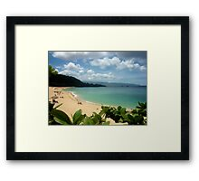 Waimea Bay North Shore Oahu Framed Print